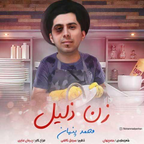 متن آهنگ محمد پنهان زن ذلیل